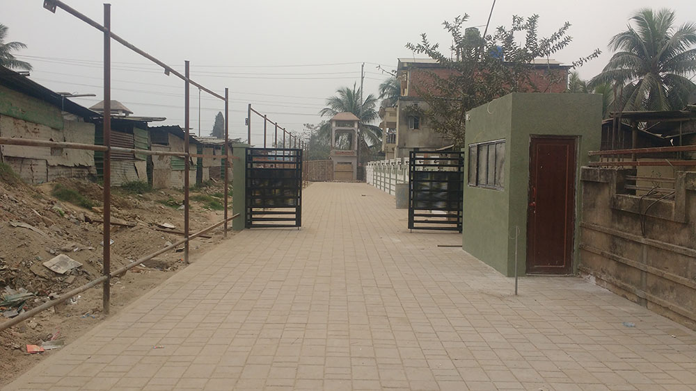 GATE INSIDE THE COMPOUND